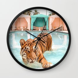 Cabana Tiger Wall Clock