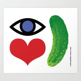 Eye Love Pickle Art Print