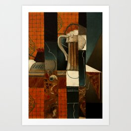 "Juan Gris ""Playing Cards and Glass of Beer"" Art Print"