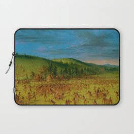 Classical Masterpiece 'Ball play of the Choctaw' by George Catlin Laptop Sleeve