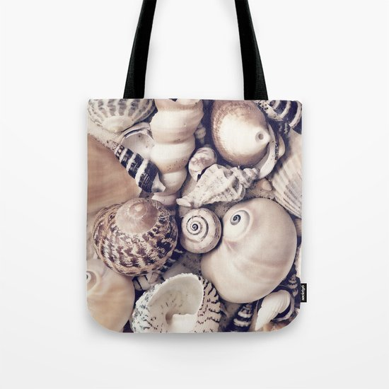 Vintage  Sea Shell Collection Coastal Style Tote Bag