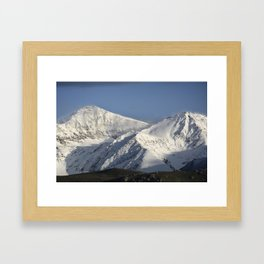 Hight snowy mountains. 3489 meters Framed Art Print