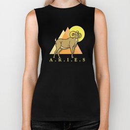 Aries the Ram Biker Tank