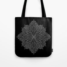 flower line art - black Tote Bag
