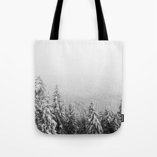 Winter vibes #evergreen #society6 Tote Bag