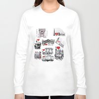 cities Long Sleeve T-shirts featuring Cities 1  by sladja