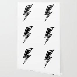 Lightning - Black and White Wallpaper