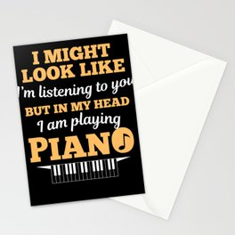 Piano Pianist Clefs Piano Player Gift Stationery Cards
