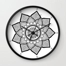9-Pointed Mandala Wall Clock