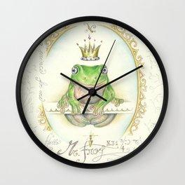 A prince for me.  PrinceFrog Wall Clock