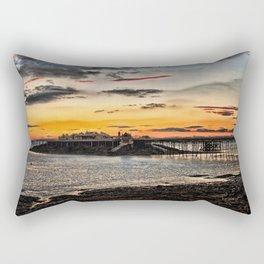 Birnbeck Pier and island Weston-super-Mare Rectangular Pillow