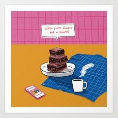 brownie Art Print