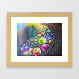Fruit basket Framed Art Print