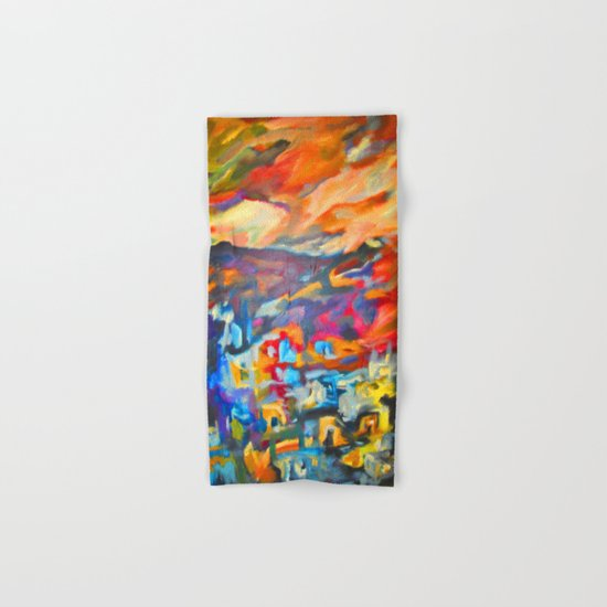 My Village | Colorful Small Mountainy Village Hand & Bath Towel