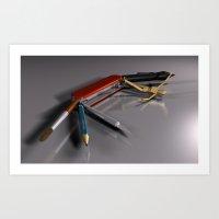 Swiss Artists Knife Art Print