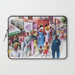 African American Masterpiece 'Sunday in Harlem' Portrait by Miguel Covarrubias Laptop Sleeve