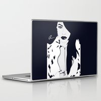 aaliyah Laptop & iPad Skins featuring Aaliyah B&W by NelxArt