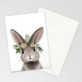 Bunny Rabbit Print Stationery Cards