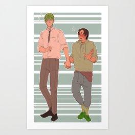 midorima x takao- KNB Art Print