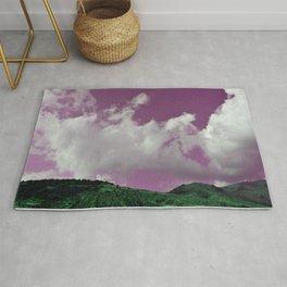 emerald hills purple skies Rug