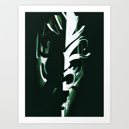 Tribal silhouette Art Print