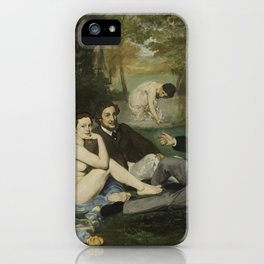 Luncheon on the Grass, Edouard Manet iPhone Case