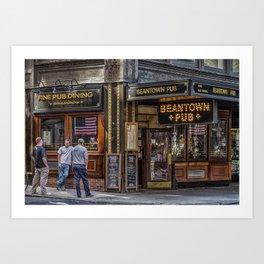 Beantown Pub Art Print