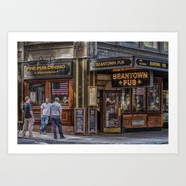 Beantown Pub Art Print
