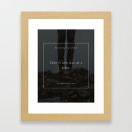 Recovery Tip #1 Framed Art Print