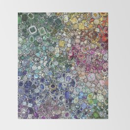 Diamonds, Jewels, (Gems & The Hologram) Throw Blanket