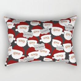 Who's the Real Santa? Rectangular Pillow