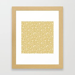 Vintage yellow Framed Art Print