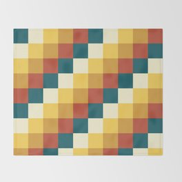 My Honey Pot - Pixel Pattern in yellow tint colors Throw Blanket