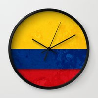 colombia Wall Clocks featuring Colombia by The Traveller, Wanderlust and Me