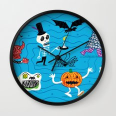 The Halloween Parade Wall Clock