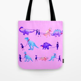 Walking the Dinosaurs Tote Bag