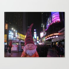 Times Square Gnome Canvas Print