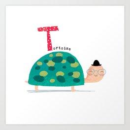T is for Tortoise Art Print