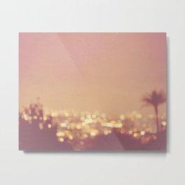 Summer Nights. Los Angeles at night photograph. Metal Print