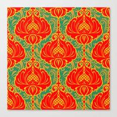 Bright vintage floral pattern Canvas Print