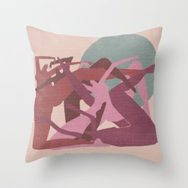 Witches in the Full Moon Throw Pillow