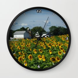 Sunflower Farm  - Pope Farm Conservancy, Wisconsin Wall Clock