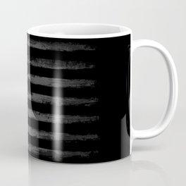 Grey Grunge American flag Coffee Mug