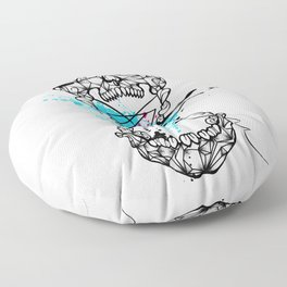 Abstract skull Floor Pillow