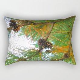 Beautiful fir tree branch with cones Rectangular Pillow