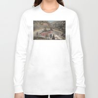 trout Long Sleeve T-shirts featuring Rainbow Trout by Mitch Meseke