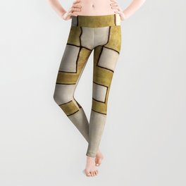 Protoglifo 06 'Mustard traverse cream' Leggings