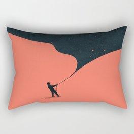 Night fills up the sky Rectangular Pillow