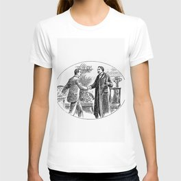 Gentlemen shaking hands from Thrilling Life Stories for the Masses T-shirt