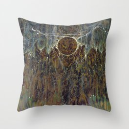 Nebulous Portal Emergence (Electric Gateway) Throw Pillow